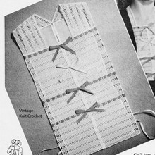 Vintage Vestee Crochet Pattern in Ribbons and Lace
