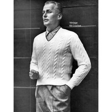 Knitted Mans Cable Sweater Pattern