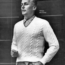 Vintage Cabled Mans Pullover Pattern