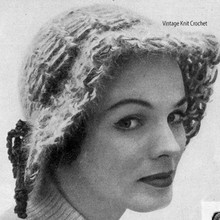 Soft Brimmed Crocheted Angora Cloche Pattern