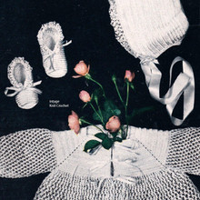 Crocheted Christening Baby Set Pattern