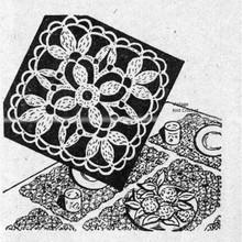 Flower Medallion Crochet Pattern, Workbasket 1948