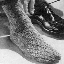 Spiral Socks Knitting Pattern for Men