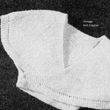 Knitted infant surplice sweater pattern, vintage 1951
