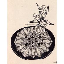 Vintage Crocheted Doily Pattern, Flower Medallions