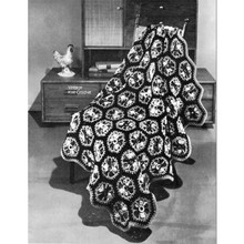 Crochet Hexagon Afghan Pattern, Mexicana