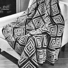 Two Tone Block Afghan Knitting Pattern