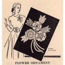 Free Crochet Flower Ornament Pin Pattern