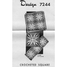 Design 7244, Crocheted 9 inch square pattern
