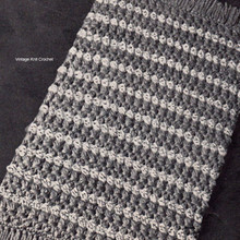 Stripes and Fringe Crochet Rug Pattern