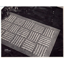 Crochet Geometric Block Rug Pattern