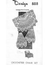 Crochet Pineapple Bell Chair Set Pattern, Mail Order 888