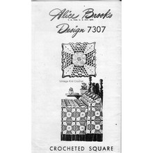Mail Order Pattern 7307, Crocheted Square Pattern