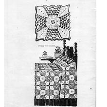 Alice Brooks 7307, Irish Crocheted Square Pattern