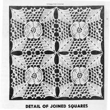 Irish Crochet Squares Joined Illustration