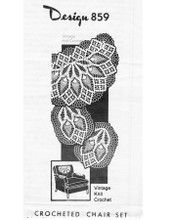 Pineapple Crocheted Chair Doily Pattern, Mail Order Design 859