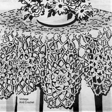 Large Round Medallion Tablecloth Pattern No 5935