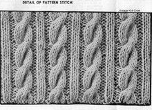 Knitted Cable Vest Pattern Illustration