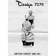 Alice Brooks 7279, Mohair Knitted Capelet Pattern