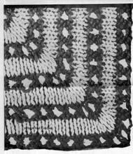 Knitted Openwork with Stockinette Bands