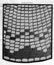 Crocheted Mesh Pattern Stitch Illustration