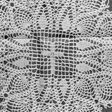 Ellen Bruce Crochet Cross Doily Pattern in Pineapple Stitch