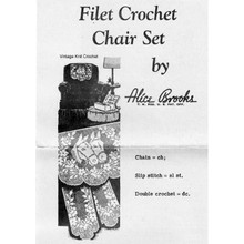 Filet Crochet Horse Heads Pattern, Alice Brooks 7236