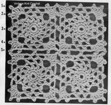 Lace Medallion Jacket Pattern Illustration for Alice Brooks 7374.