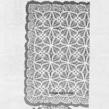 Pineapple Crochet Tablecloth Pattern with Ruffled Border, Alice Brooks 7167