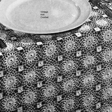 Vintage Round Motif Crocheted Tablecloth Pattern