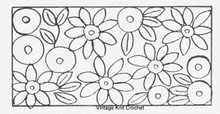 Layout chart for Crocheted Flowers on Rug