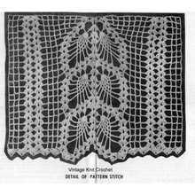 Pineapple Crochet Curtain Panel Pattern Illustration