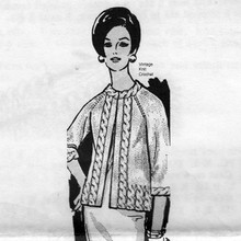 Knitted Womans Cable Jacket Patternn Design 7181