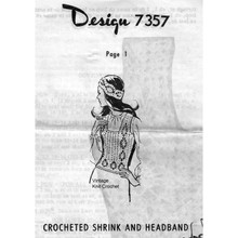Crocheted Pineapple Shrink Pattern Mail Order Design 7357