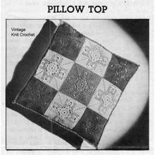 Crocheted Flower Pillow Pattern