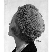 Loop Stitch Crochet Pillbox Hat Pattern, Vintage 1950s