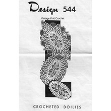 Three Crocheted Doilies Pattern, Oval in Pineapple Stitch