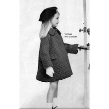 Vintage Girls Coat Knitting Pattern