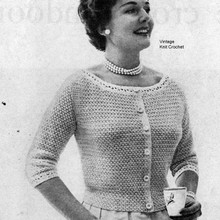 Ribbon Crochet Blouse Pattern with scoop neck