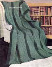 Masculine Striped Afghan Knitting Pattern