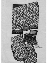 Crochet Chair Set Pattern, All Over Pineapples, Mail Order 7392