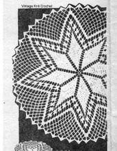 Star Doily Crochet Luncheon Pattern Set, Alice Brooks 7075.