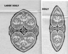 Large Small Filet Crochet Valentine Doily Pattern