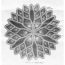 Crochet Detail of Pineapple Doily Pattern No 7530