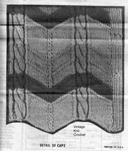 Cable Cape Knitting Illustration