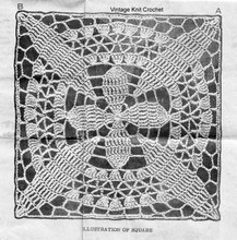 Lace Square Crochet Pattern Stitch Illustration