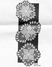 Square Crochet Doilies Pattern, Mail Order 7283
