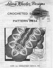 Crochet Pineapple Scarf Pattern, Pineapples, Mail Order 2934