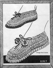 Crochet Loafers Pattern, Mail Order 1087