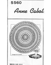 Wedding Cake Crochet Doily Pattern, Mail Order 5560